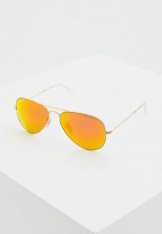 Очки солнцезащитные, Ray-Ban®, цвет  золотой. Артикул  RA014DUDSAT5. cdb12dc93b1