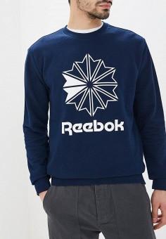 Свитшот, Reebok Classics, цвет  синий. Артикул  RE005EMEESY1. Одежда    Толстовки e67342a33dd