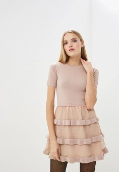 Платье, Red Valentino, цвет  розовый. Артикул  RE025EWDKUY7. Premium    Одежда ab177f9615f