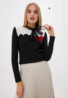 Джемпер, Red Valentino, цвет: черный. Артикул: RE025EWFPIN2. Red Valentino