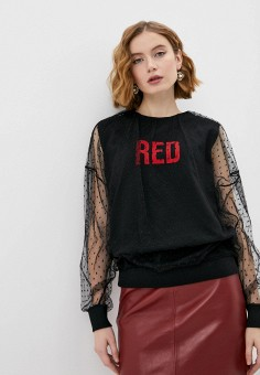 Свитшот, Red Valentino, цвет: черный. Артикул: RE025EWLPZV3. Premium / Red Valentino