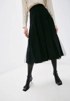 Юбка, Red Valentino, цвет: черный. Артикул: RE025EWLXLA1. Premium / Red Valentino