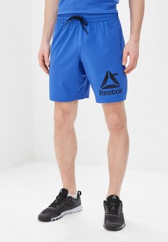 591f12ee Шорты спортивные, Reebok, цвет: синий. Артикул: RE160EMEHHX9. Одежда / Шорты