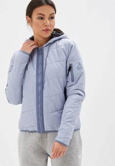 22c6b243 Куртка утепленная, Reebok, цвет: голубой. Артикул: RE160EWFKMS5. Одежда /  Верхняя