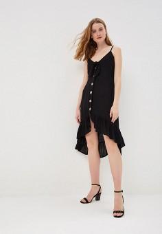 3459e3997c4d0c8 Платье пляжное, River Island, цвет: черный. Артикул: RI004EWFBLL5. Одежда /