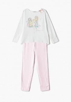 48c87f35a6f7a Пижама, Ritta Romani, цвет: белый, розовый. Артикул: RI040EGFFLC8. Девочкам