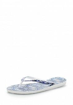 d21fc8d592b4 Сланцы, Roxy, цвет  синий. Артикул  RO165AWAKCZ5. Обувь   Резиновая обувь