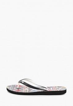 c9f3622bb Сланцы, Roxy, цвет: черный. Артикул: RO165AWEGVO2. Обувь / Резиновая обувь