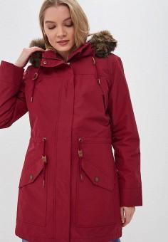 Парка, Roxy, цвет  бордовый. Артикул  RO165EWCFID6. Одежда   Верхняя одежда 0c1d87eead8