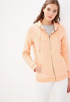 b31a0a89 Толстовка, Roxy, цвет: розовый. Артикул: RO165EWEGUP2. Одежда / Толстовки и