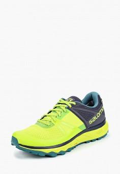 dc88457e8d74 Кроссовки, Salomon, цвет  зеленый. Артикул  SA007AMBOMJ1. Обувь   Кроссовки  и
