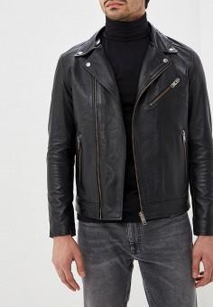Куртка кожаная, Selected Homme, цвет  черный. Артикул  SE392EMDJVR1. Одежда    efc5c9d0516