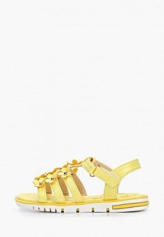 8e5aaffbe Сандалии, Shuzzi, цвет: желтый. Артикул: SH015AGEJIX4. Девочкам / Обувь /