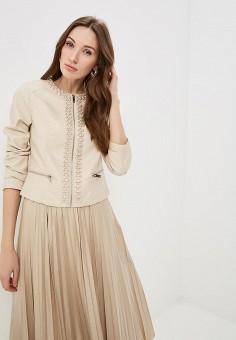 c55564d1 Куртка кожаная, Softy, цвет: бежевый. Артикул: SO017EWFBJY6. Одежда /  Верхняя