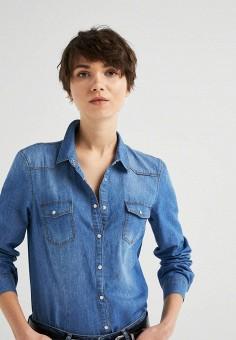 e7fcf767886fa0f Рубашка джинсовая, Springfield, цвет: синий. Артикул: SP014EWEAIC0. Одежда  / Блузы