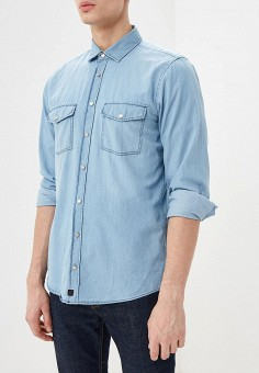 f57f704f Рубашка джинсовая, Strellson, цвет: голубой. Артикул: ST004EMDVLB7. Одежда  / Рубашки