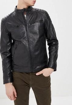 41f8d48b08c17 Куртка кожаная, Strellson, цвет: черный. Артикул: ST004EMEJWU5. Одежда /  Верхняя