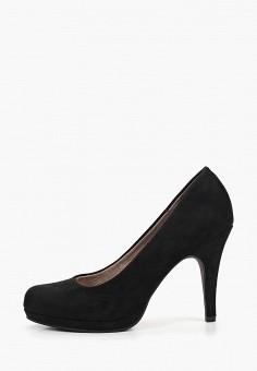 Туфли, Tamaris, цвет  черный. Артикул  TA171AWDTRX6. Обувь   Туфли 5cb36b29f88