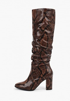 2ff88bbd9d1a3 Сапоги, Tamaris, цвет: коричневый. Артикул: TA171AWGAOG4. Обувь / Сапоги