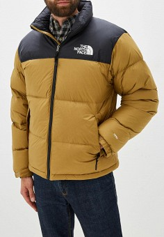 Пуховик, The North Face, цвет: желтый. Артикул: TH016EMFQLS4. The North Face