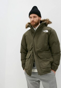 Пуховик, The North Face, цвет: хаки. Артикул: TH016EMMBHU4. The North Face