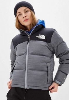 Пуховик, The North Face, цвет: серый. Артикул: TH016EWFQLY6. The North Face