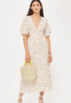 Платье, Topshop, цвет  мультиколор. Артикул  TO029EWBTOV1. Одежда   Платья и 0630f8e74ca