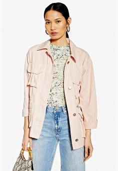 6ce0426c Куртка джинсовая, Topshop, цвет: розовый. Артикул: TO029EWFJJQ2. Одежда /  Верхняя