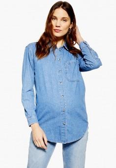 bd002af0fd496 Рубашка джинсовая, Topshop, цвет: синий. Артикул: TO029EWFOFL2. Одежда /  Блузы