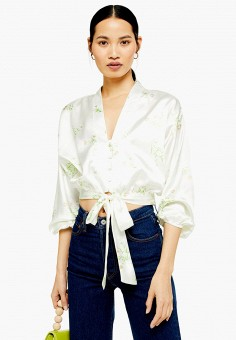 83fc448294d4c Блуза, Topshop, цвет: белый. Артикул: TO029EWFQHE8. Одежда / Блузы и