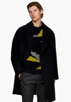 Пальто, Topman, цвет  черный. Артикул  TO030EMDPAO9. Одежда   Верхняя одежда 9f013cee1a5