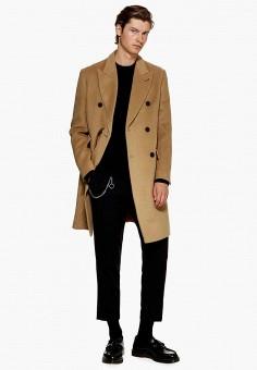 Пальто, Topman, цвет  бежевый. Артикул  TO030EMDQOY7. Одежда   Верхняя  одежда 97f7d18d8e3
