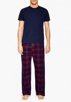 b2e76ecac2035 Пижама, Topman, цвет: синий. Артикул: TO030EMECCW6. Одежда / Домашняя одежда