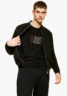 6d54582b Куртка, Topman, цвет: черный. Артикул: TO030EMFDVW2. Одежда / Верхняя одежда