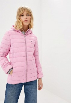 ba609053 Куртка утепленная, Tommy Jeans, цвет: розовый. Артикул: TO052EWDECG4. Одежда  /