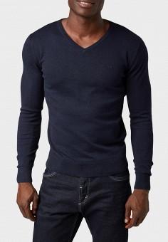 a4a3e85cd92f6 Пуловер, Tom Tailor, цвет: синий. Артикул: TO172EMBXIT3. Одежда / Джемперы