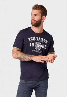 Футболка, Tom Tailor, цвет: синий. Артикул: TO172EMEHOA6. Tom Tailor
