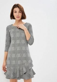 Платье, Tom Tailor, цвет: серый. Артикул: TO172EWBXDZ3. Одежда / Платья и сарафаны