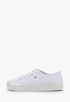 aaf51a020 Кеды, Tommy Hilfiger, цвет: белый. Артикул: TO263AWFIKY2. Обувь