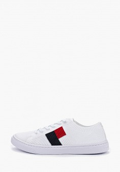 068e8325 Кеды, Tommy Hilfiger, цвет: белый. Артикул: TO263AWFIKZ5. Обувь / Кроссовки