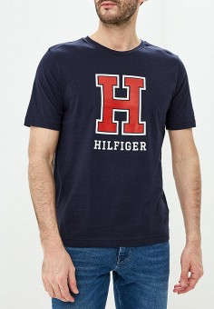 Футболка, Tommy Hilfiger, цвет: синий. Артикул: TO263EMDDUY2. Tommy Hilfiger