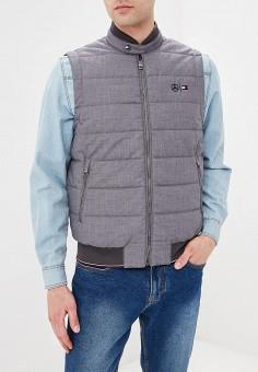 f3649dbb Жилет утепленный, Tommy Hilfiger, цвет: серый. Артикул: TO263EMEBQJ2.  Одежда /