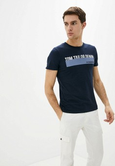 Футболка, Tom Tailor Denim, цвет: синий. Артикул: TO793EMHQJI9.
