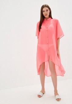 dce8617c1114909 Туника пляжная, TrendyAngel, цвет: розовый. Артикул: TR015EWFLQX6. Одежда /  Купальники