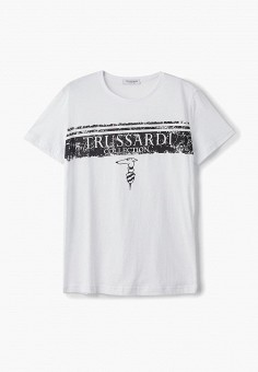 Футболка, Trussardi Collection, цвет: белый. Артикул: TR031EMCUIU6. Trussardi Collection
