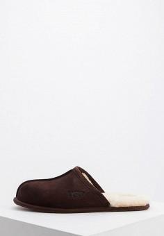 13a5b1b7f6cd8 Тапочки, UGG, цвет: коричневый. Артикул: UG002AMFQND3. Обувь / Домашняя  обувь