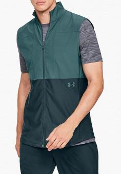 33e8f9b8 Жилет спортивный, Under Armour, цвет: зеленый. Артикул: UN001EMDVAS0.  Одежда /