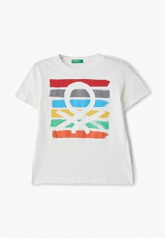 Футболка, United Colors of Benetton, цвет: белый. Артикул: UN012EBDXJO8. United Colors of Benetton
