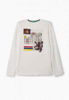 Лонгслив, United Colors of Benetton, цвет: белый. Артикул: UN012EBJZKV5.