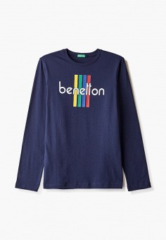 Лонгслив, United Colors of Benetton, цвет: синий. Артикул: UN012EBJZLO8.